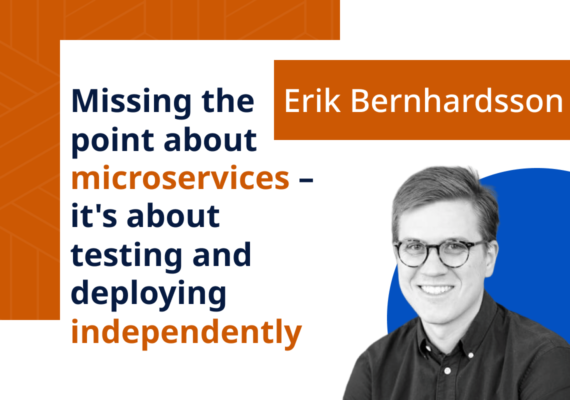 Missing the point about microservices – it's about testing and deploying independently