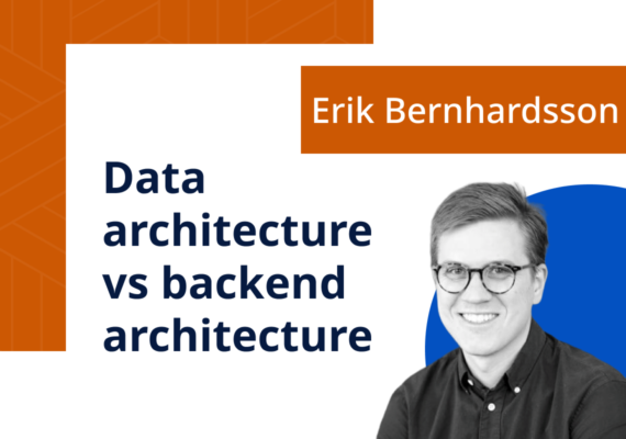 Data architecture vs backend architecture