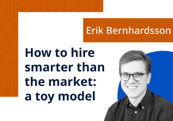 How to hire smarter than the market: a toy model